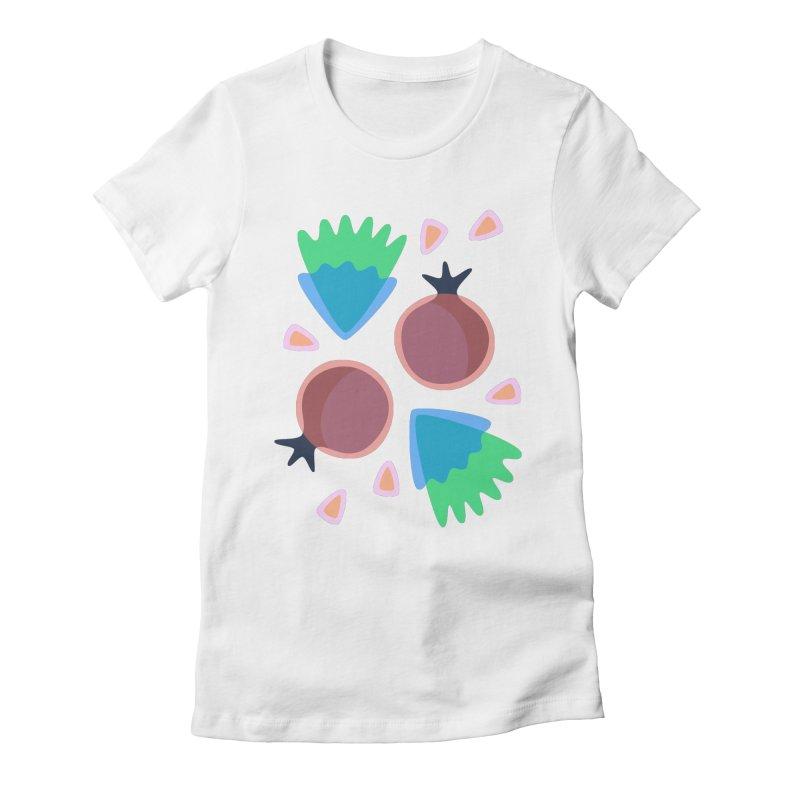 Pomegranate Women's Fitted T-Shirt by Kira Seiler