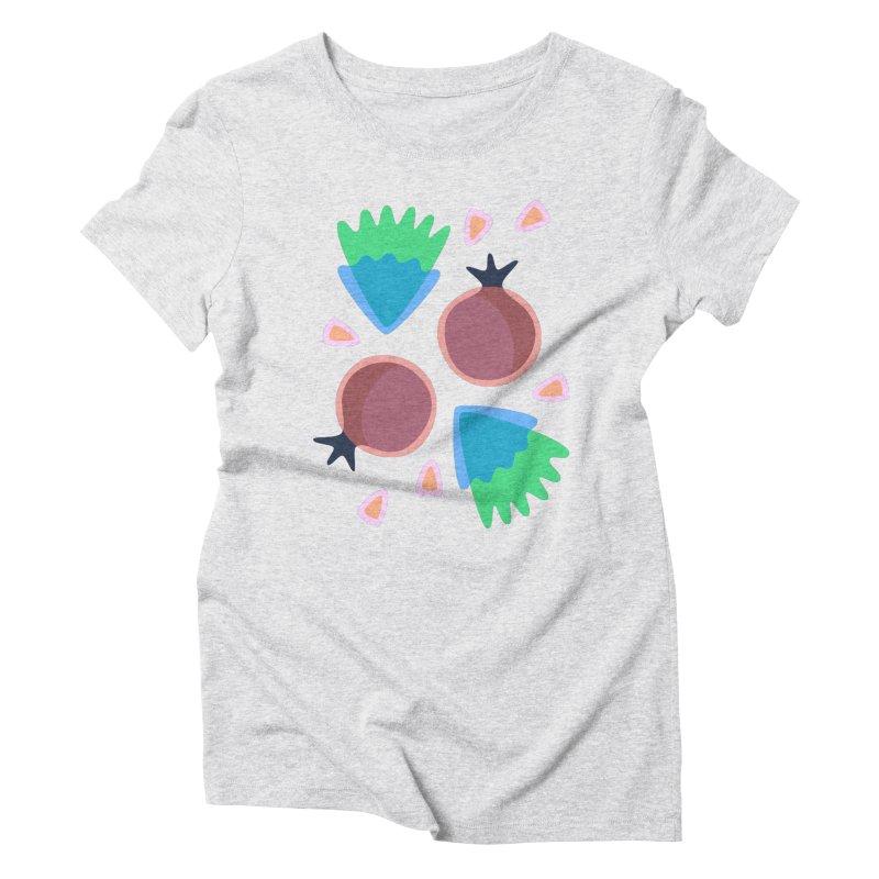 Pomegranate Women's Triblend T-shirt by Kira Seiler