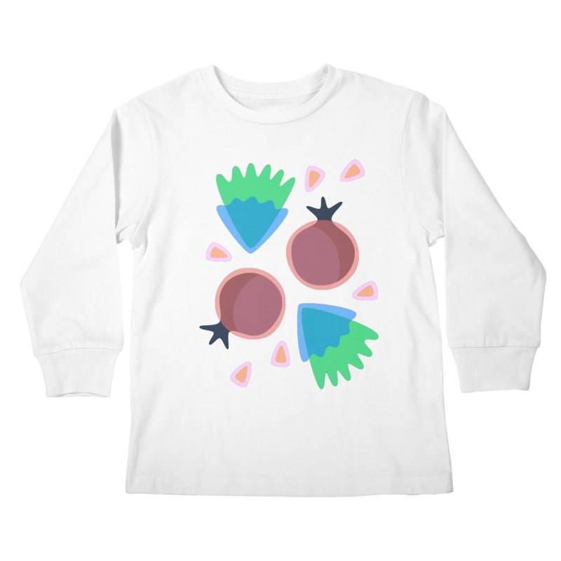 Pomegranate Kids Longsleeve T-Shirt by Kira Seiler