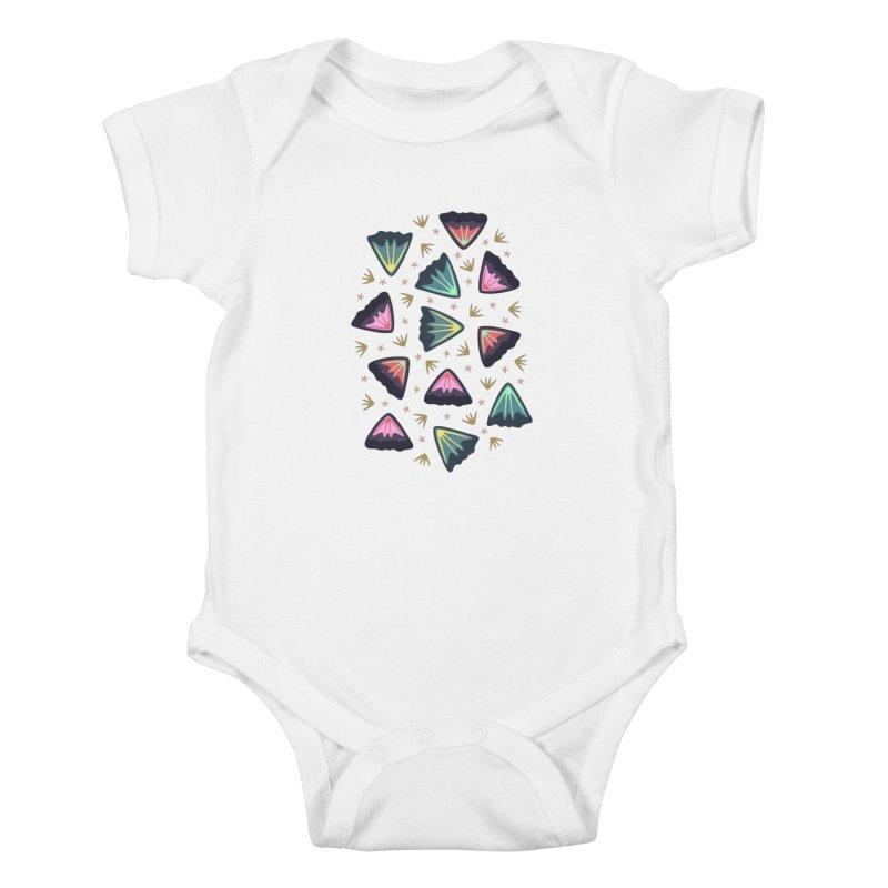 Bold Petals Kids Baby Bodysuit by Kira Seiler