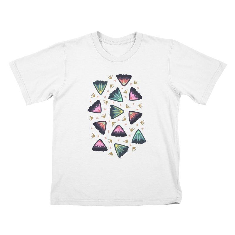 Bold Petals Kids T-shirt by Kira Seiler
