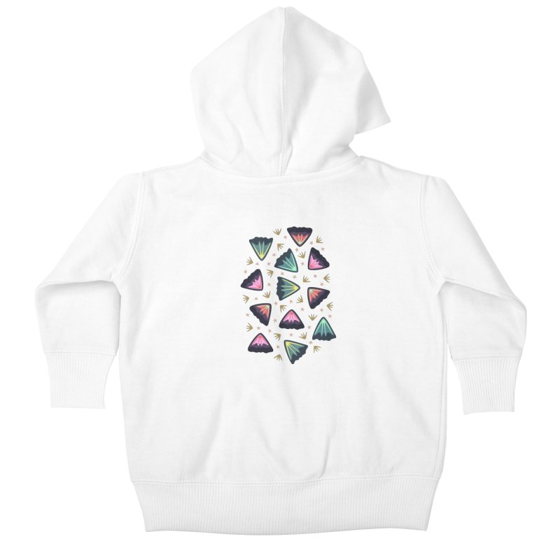Bold Petals Kids Baby Zip-Up Hoody by Kira Seiler