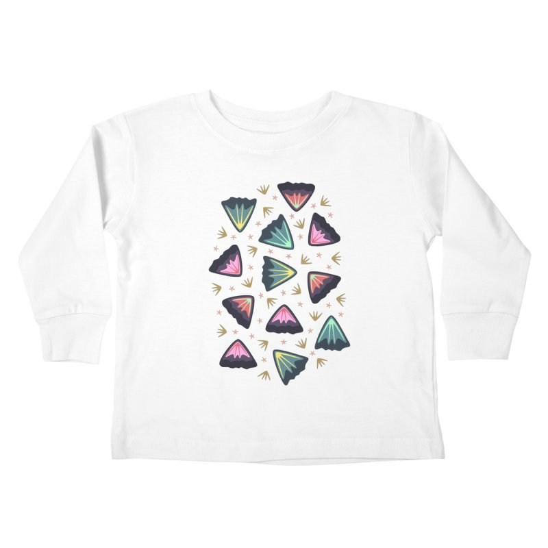 Bold Petals Kids Toddler Longsleeve T-Shirt by Kira Seiler