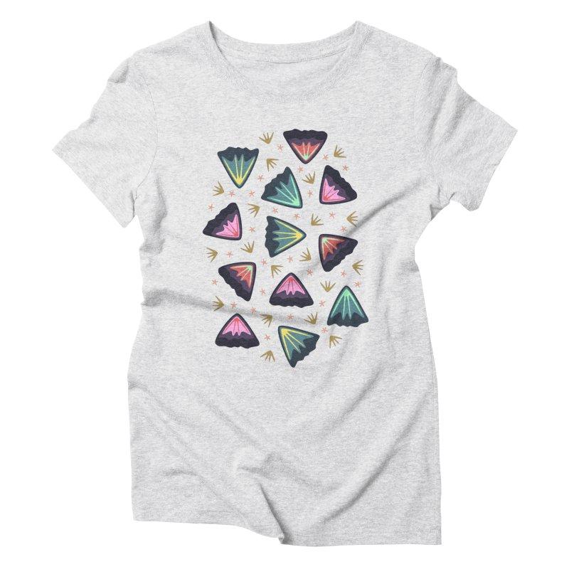 Bold Petals Women's Triblend T-shirt by Kira Seiler