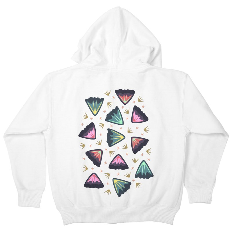 Bold Petals Kids Zip-Up Hoody by Kira Seiler