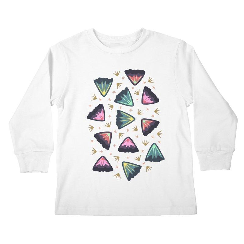 Bold Petals Kids Longsleeve T-Shirt by Kira Seiler
