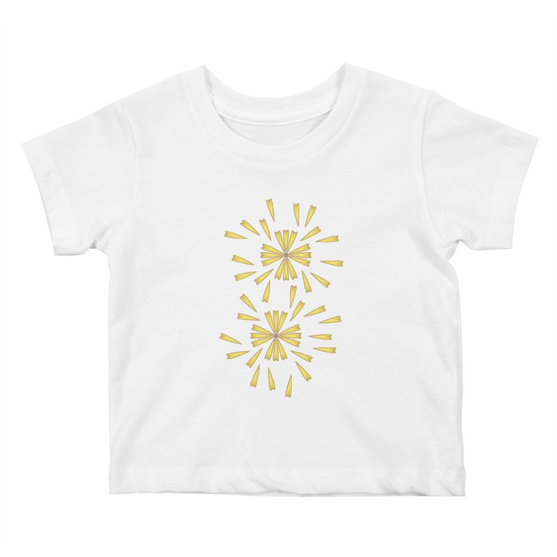 Golden Marguerite Kids Baby T-Shirt by Kira Seiler