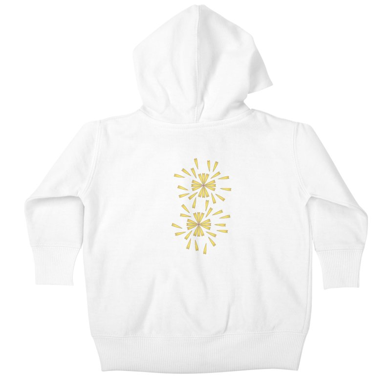 Golden Marguerite Kids Baby Zip-Up Hoody by Kira Seiler