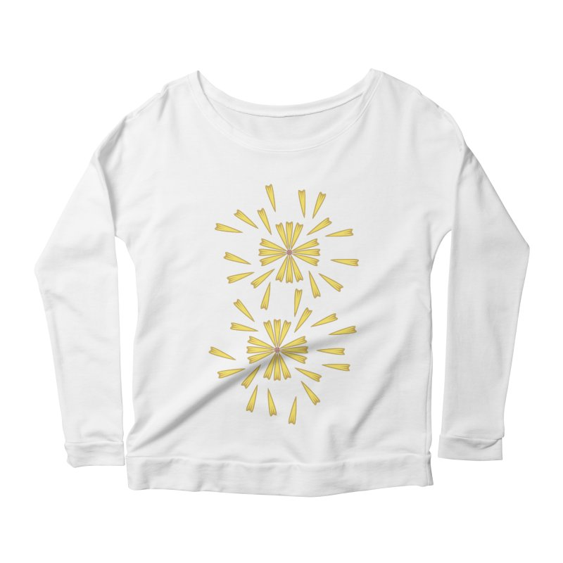 Golden Marguerite Women's Longsleeve Scoopneck  by Kira Seiler