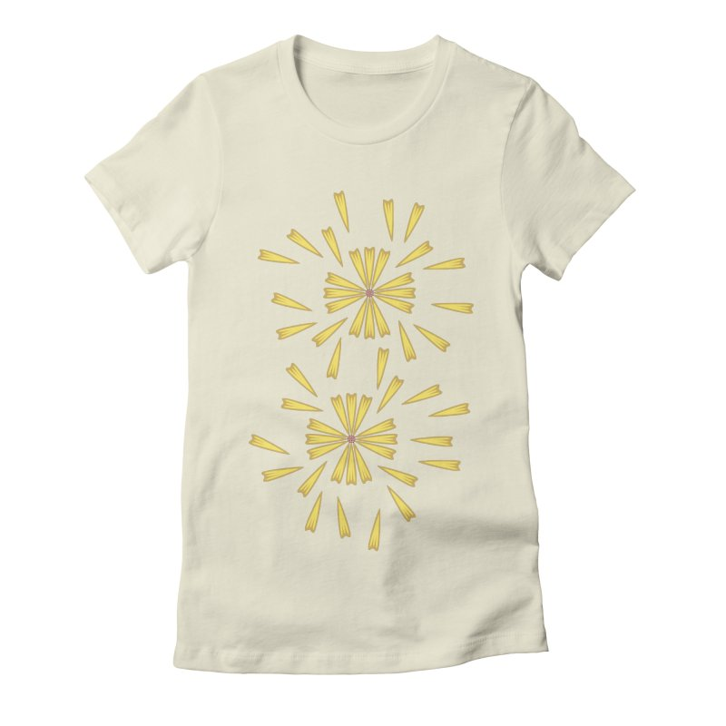 Golden Marguerite Women's Fitted T-Shirt by Kira Seiler