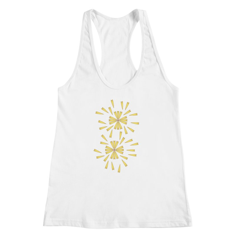 Golden Marguerite Women's Racerback Tank by Kira Seiler
