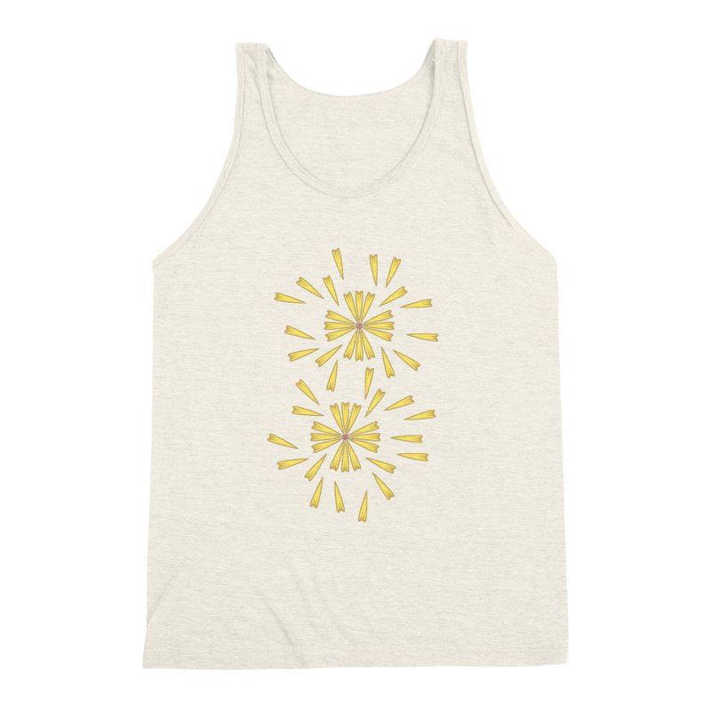 Golden Marguerite Men's Triblend Tank by Kira Seiler