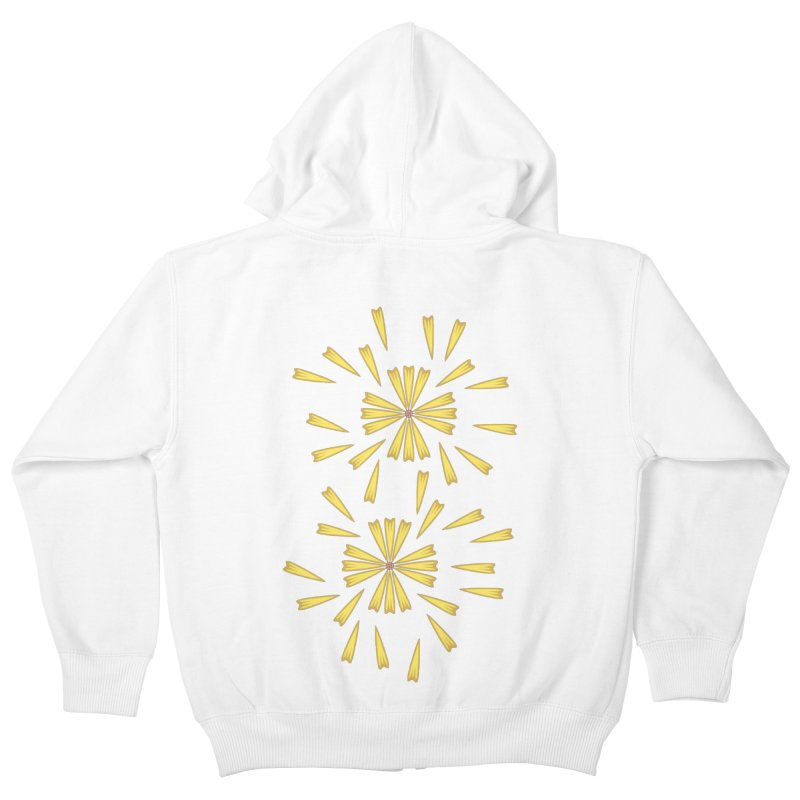 Golden Marguerite Kids Zip-Up Hoody by Kira Seiler