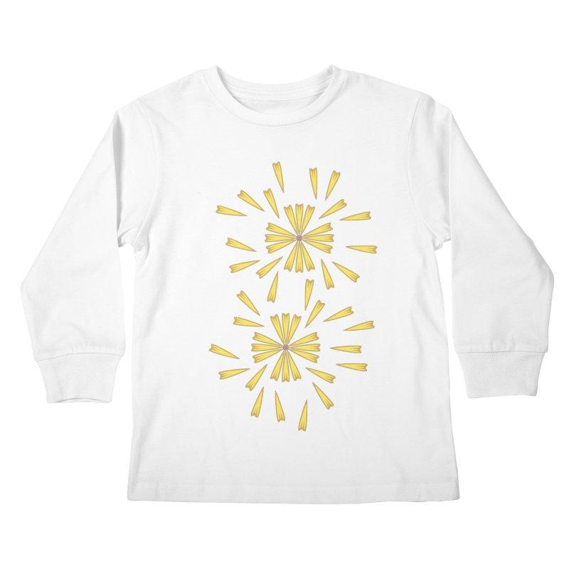 Golden Marguerite Kids Longsleeve T-Shirt by Kira Seiler