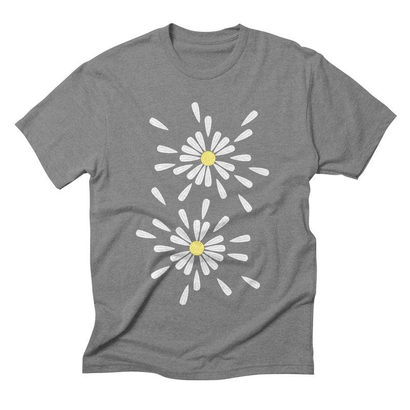 Common Daisy Men's Triblend T-shirt by Kira Seiler