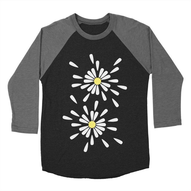 Common Daisy Men's Baseball Triblend T-Shirt by Kira Seiler