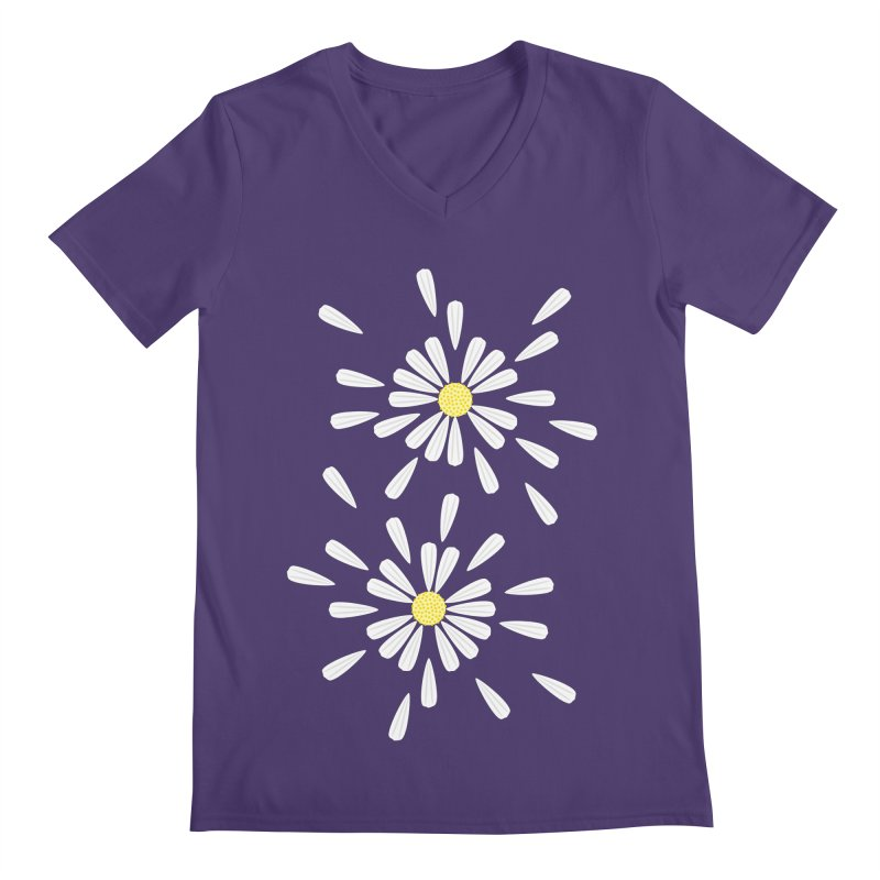 Common Daisy Men's V-Neck by Kira Seiler