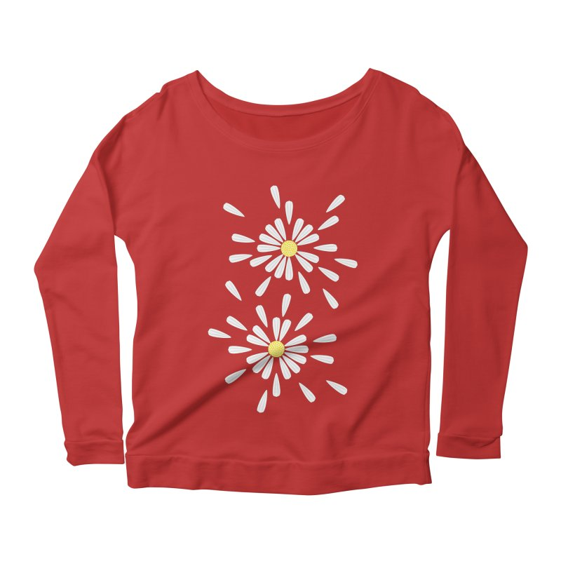 Common Daisy Women's Longsleeve Scoopneck  by Kira Seiler