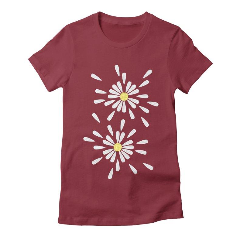 Common Daisy Women's Fitted T-Shirt by Kira Seiler