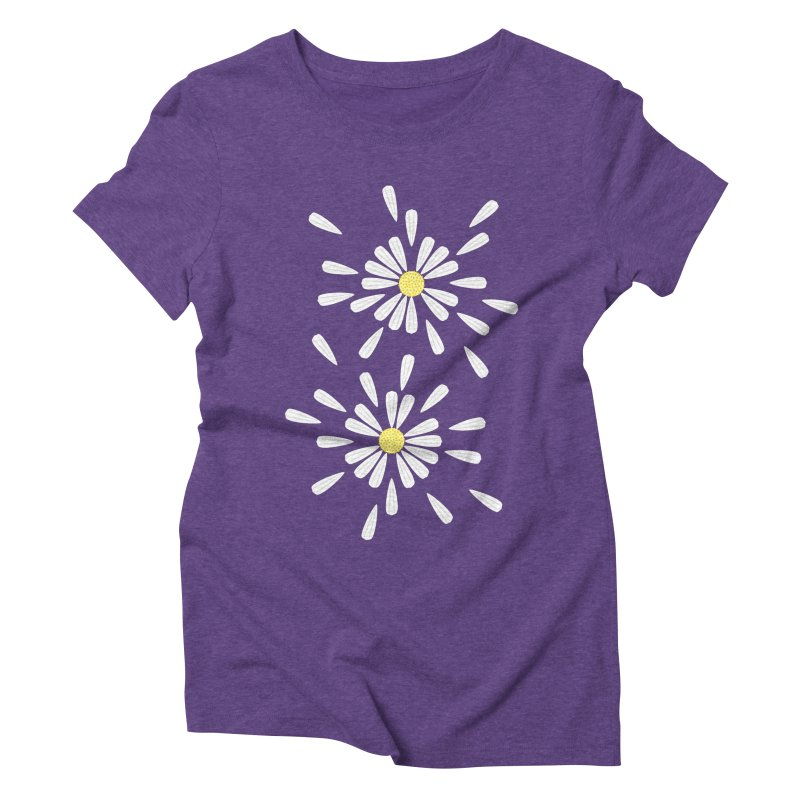 Common Daisy Women's Triblend T-shirt by Kira Seiler