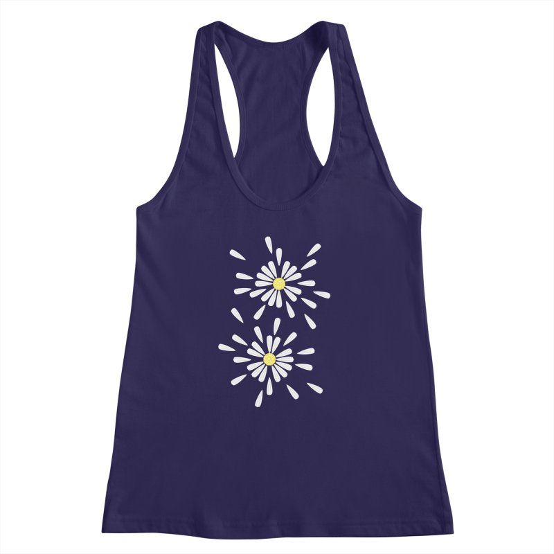 Common Daisy Women's Racerback Tank by Kira Seiler