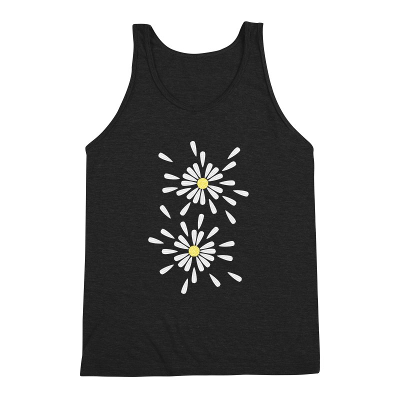 Common Daisy Men's Triblend Tank by Kira Seiler
