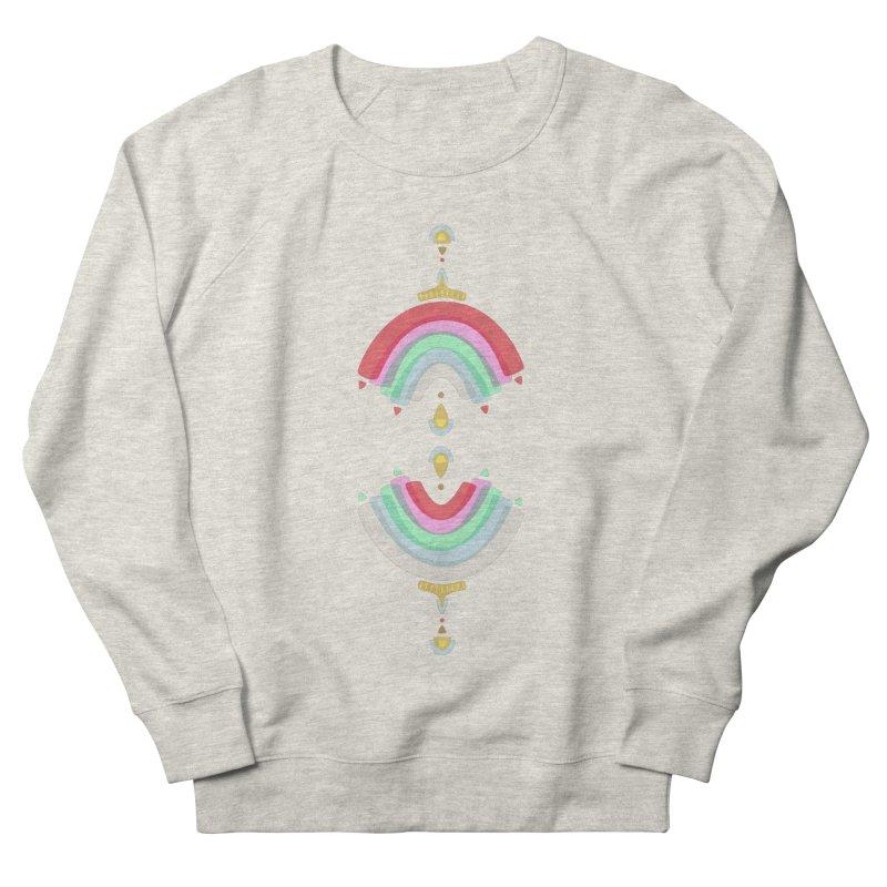 Rainbow Castle Men's Sweatshirt by Kira Seiler