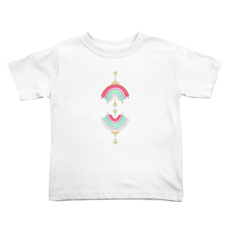 Rainbow Castle Kids Toddler T-Shirt by Kira Seiler