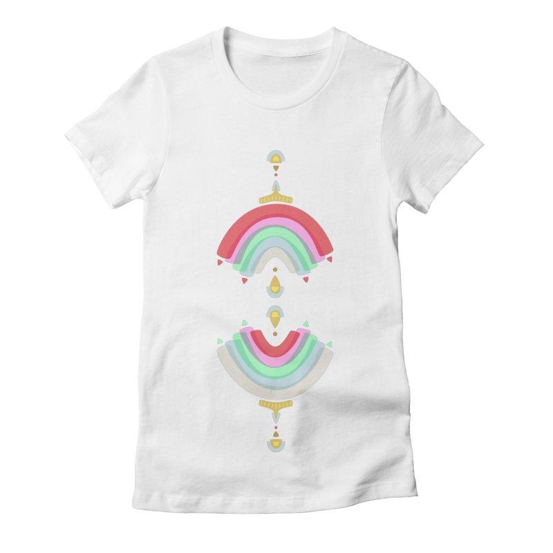 Rainbow Castle Women's Fitted T-Shirt by Kira Seiler