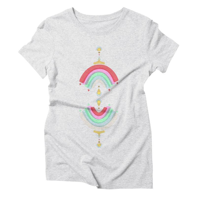 Rainbow Castle Women's Triblend T-shirt by Kira Seiler