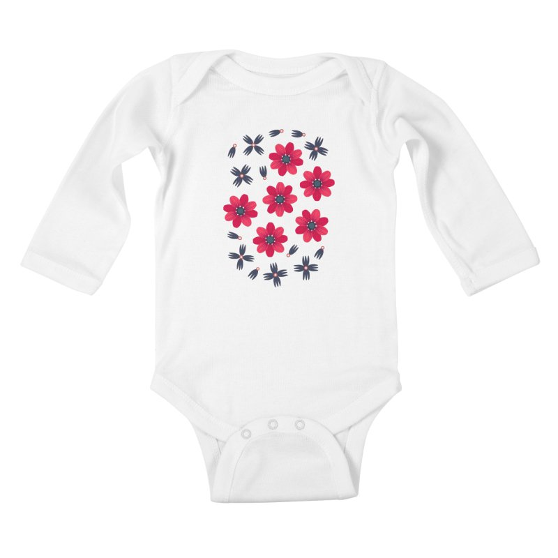 Baby Red Kids Baby Longsleeve Bodysuit by Kira Seiler