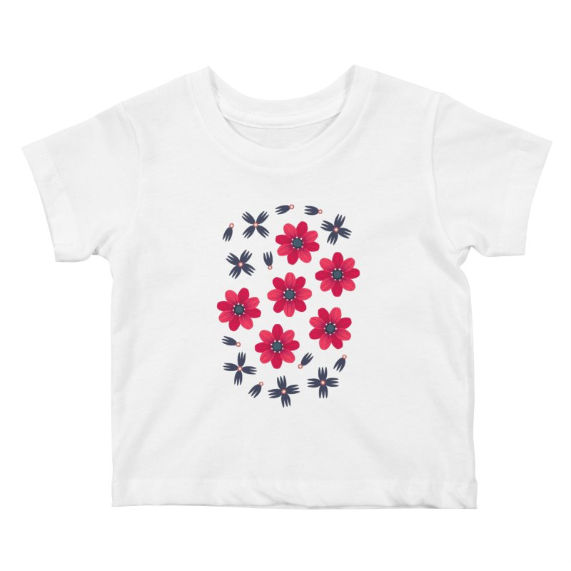 Baby Red Kids Baby T-Shirt by Kira Seiler