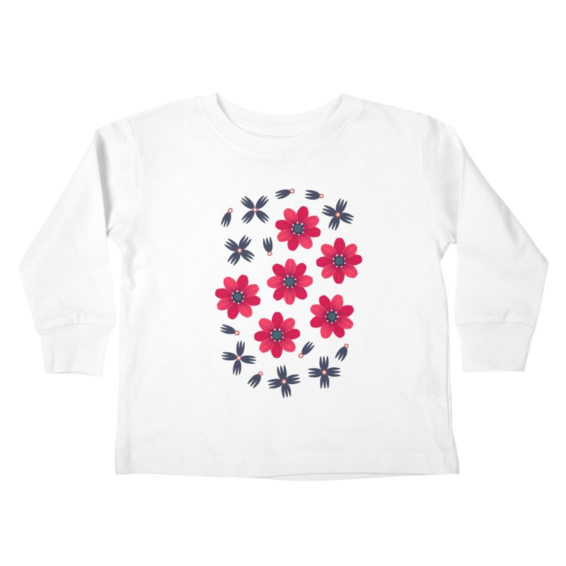 Baby Red Kids Toddler Longsleeve T-Shirt by Kira Seiler