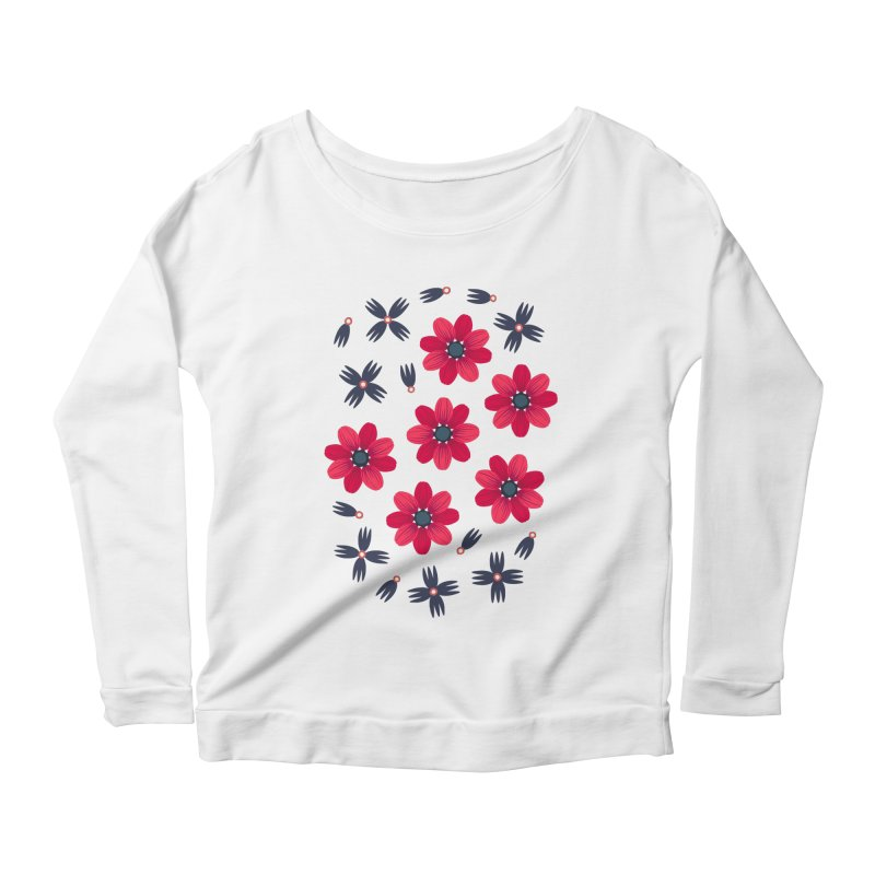 Baby Red Women's Longsleeve Scoopneck  by Kira Seiler