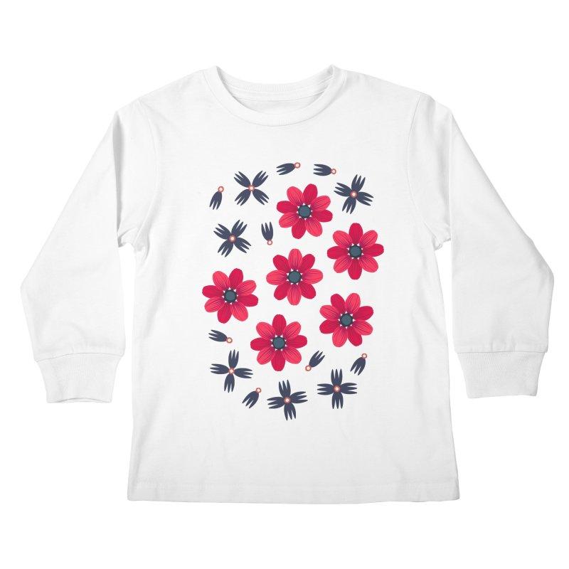 Baby Red Kids Longsleeve T-Shirt by Kira Seiler