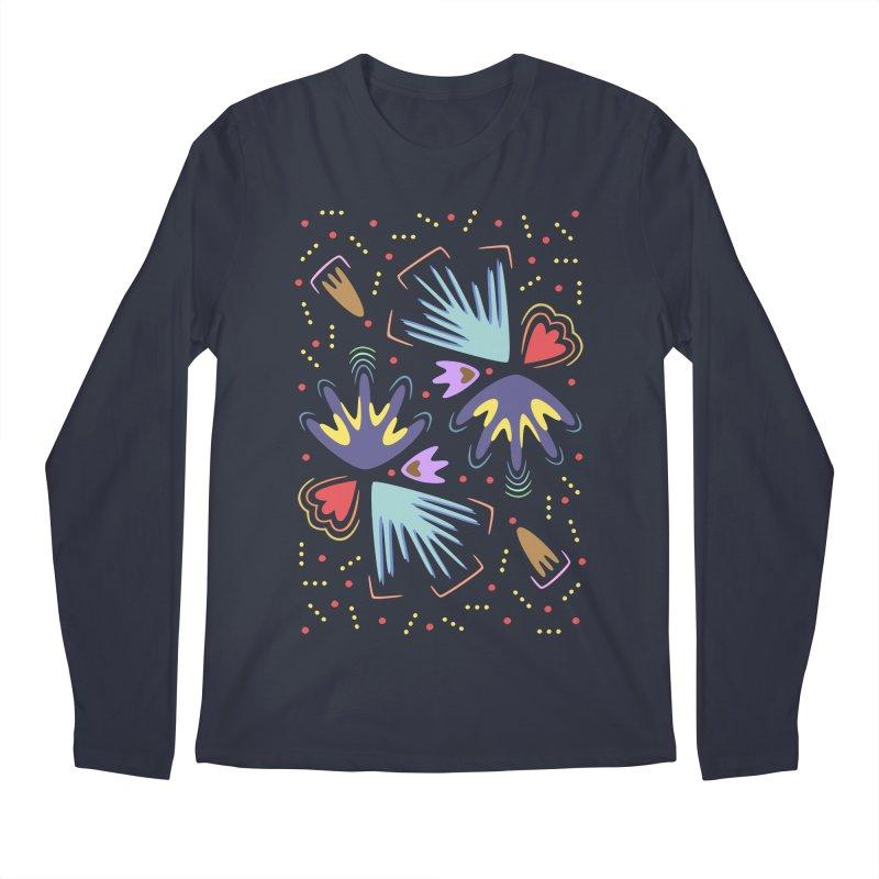 Neon Tropics Men's Longsleeve T-Shirt by Kira Seiler
