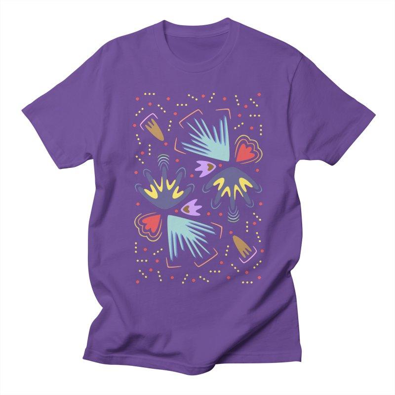 Neon Tropics Men's T-shirt by Kira Seiler