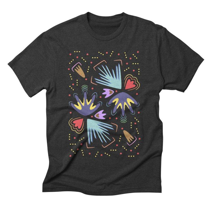 Neon Tropics Men's Triblend T-shirt by Kira Seiler