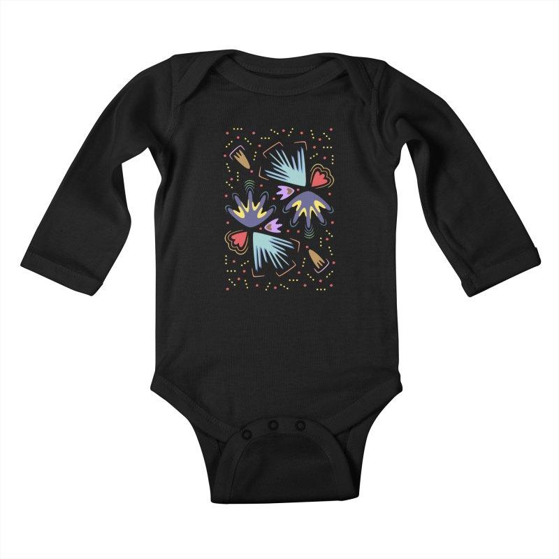 Neon Tropics Kids Baby Longsleeve Bodysuit by Kira Seiler