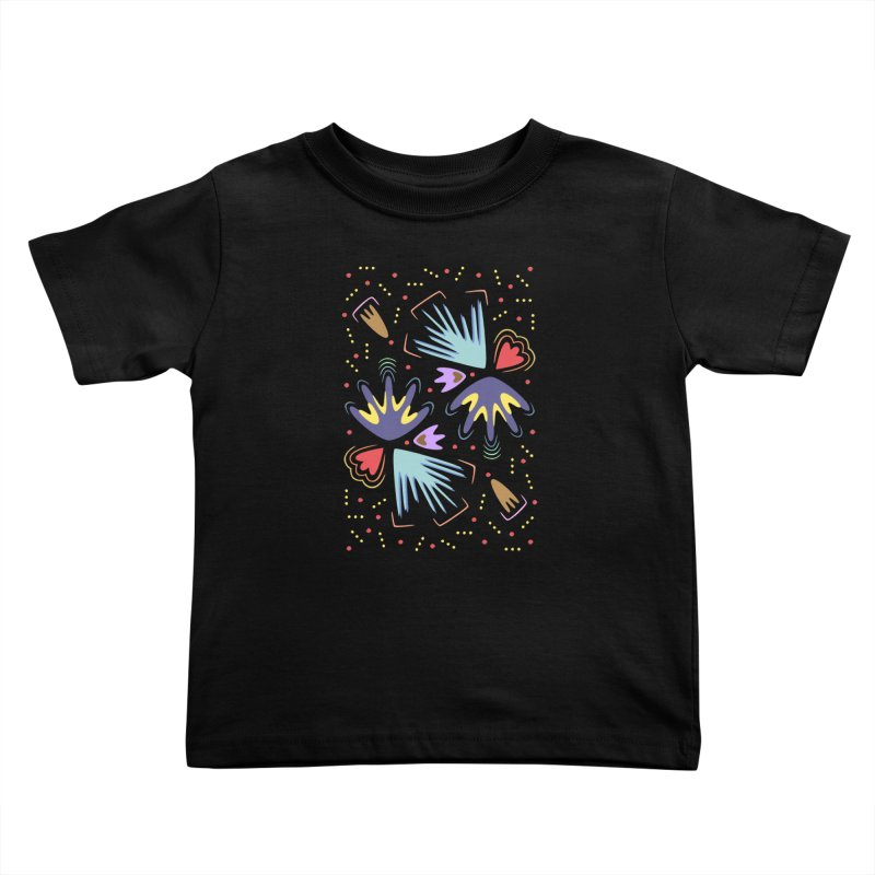 Neon Tropics Kids Toddler T-Shirt by Kira Seiler