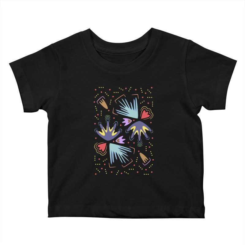 Neon Tropics Kids Baby T-Shirt by Kira Seiler