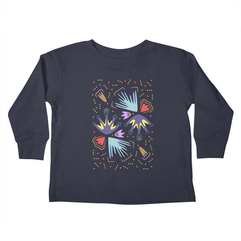 Neon Tropics Kids Toddler Longsleeve T-Shirt by Kira Seiler