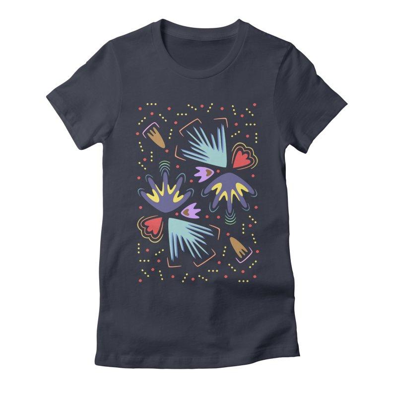 Neon Tropics Women's Fitted T-Shirt by Kira Seiler