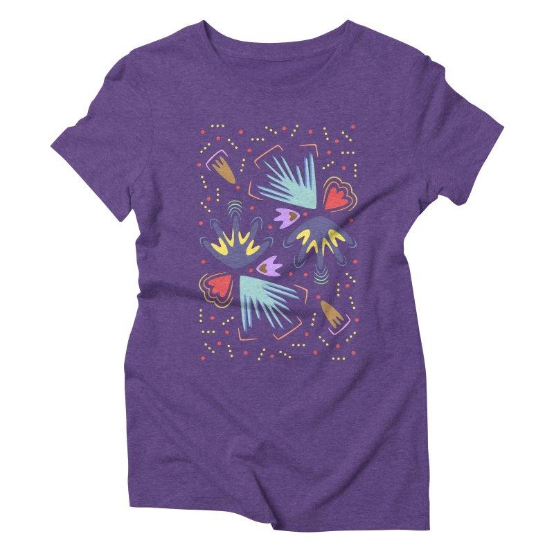 Neon Tropics Women's Triblend T-Shirt by Kira Seiler