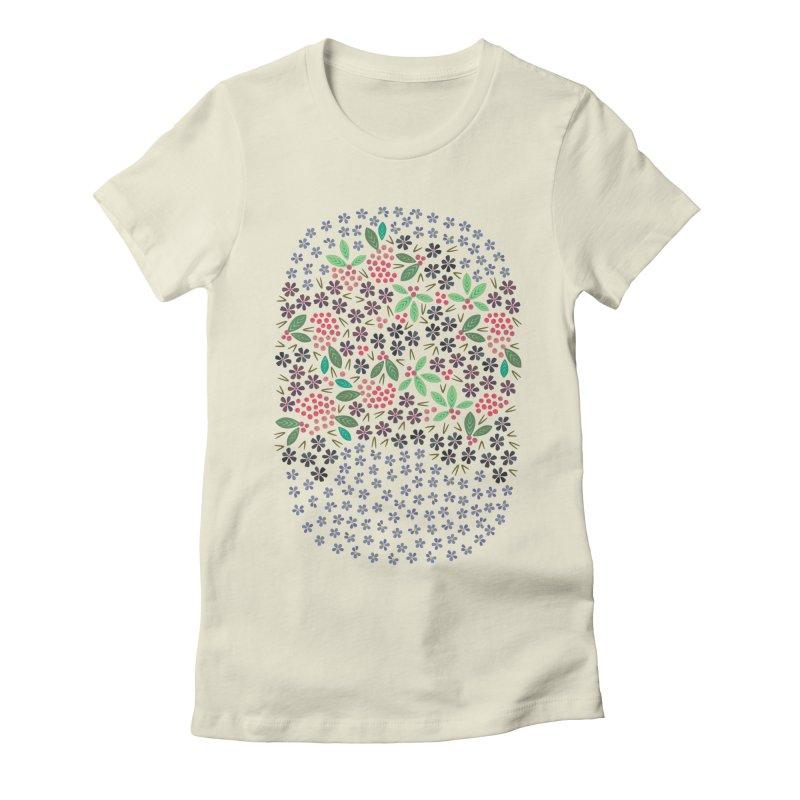 Rowan Berries Women's Fitted T-Shirt by Kira Seiler