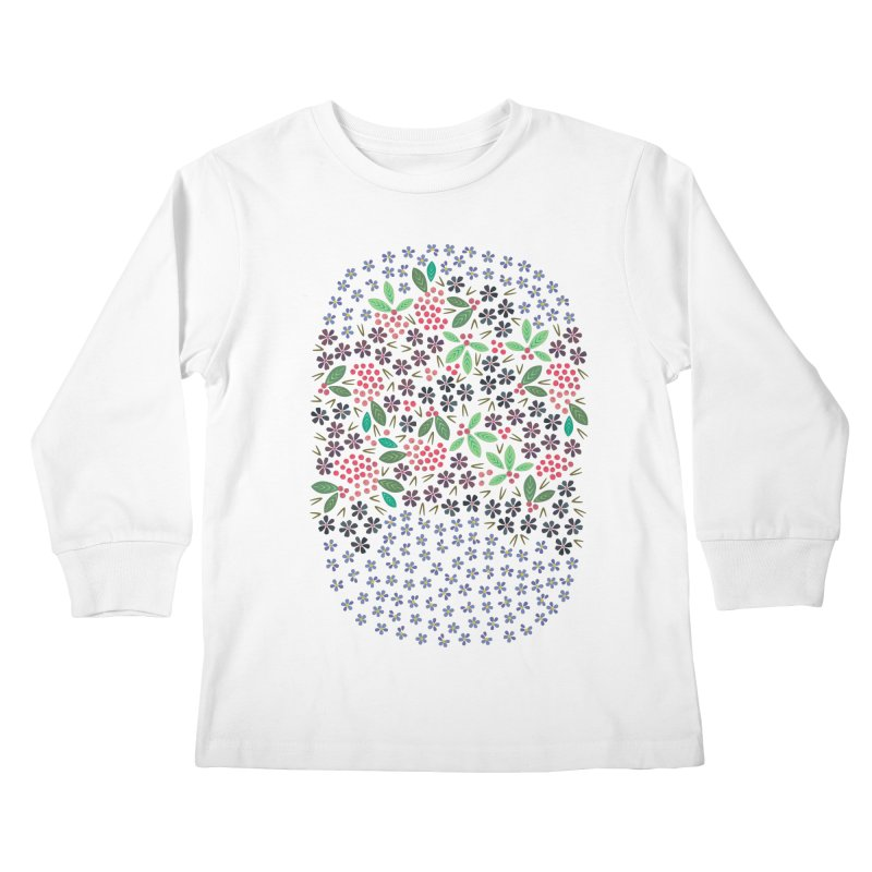 Rowan Berries Kids Longsleeve T-Shirt by Kira Seiler