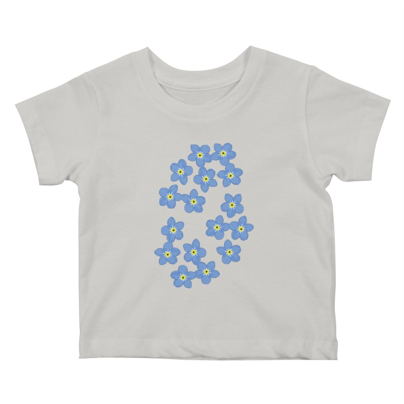 Myosotis Kids Baby T-Shirt by Kira Seiler