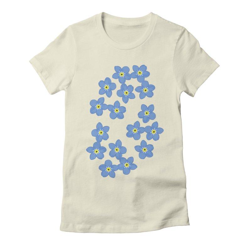 Myosotis Women's Fitted T-Shirt by Kira Seiler