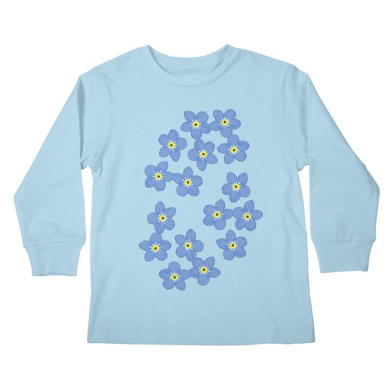Myosotis Kids Longsleeve T-Shirt by Kira Seiler