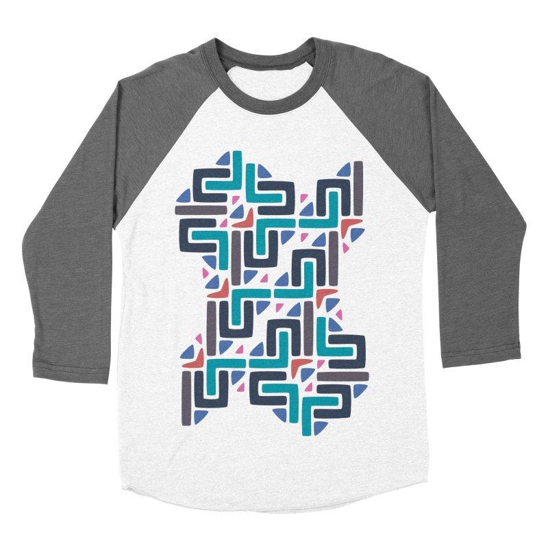 Chinese Knots Men's Baseball Triblend T-Shirt by Kira Seiler